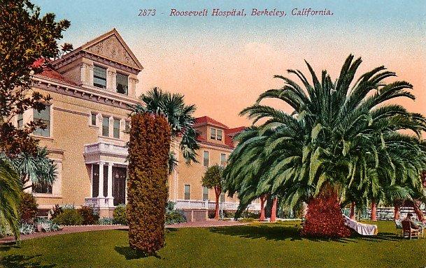 Roosevelt Hospital in Berkeley California CA, Edward H Mitchell 1910 Vintage Postcard - M0118