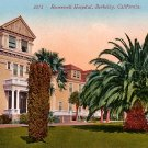 Roosevelt Hospital in Berkeley California CA, Edward H Mitchell 1910 Vintage Postcard - M0118