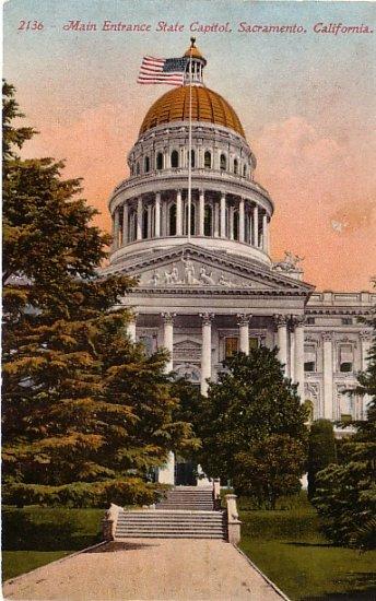 State Capitol in Sacramento California CA Edward H Mitchell 1911 Vintage Postcard - M0130