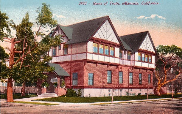 Home of Truth in Alameda California CA Edward H Mitchell 1911 Vintage Postcard - M0137