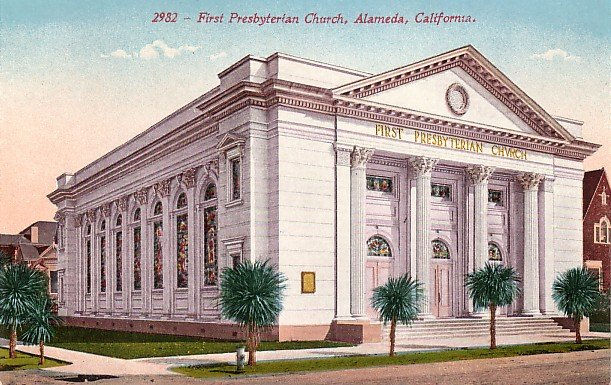 First Presbyterian Church in Alameda California CA Edward H Mitchell 1911 Vintage Postcard - M0139