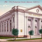 First Presbyterian Church in Alameda California CA Edward H Mitchell 1911 Vintage Postcard - M0139