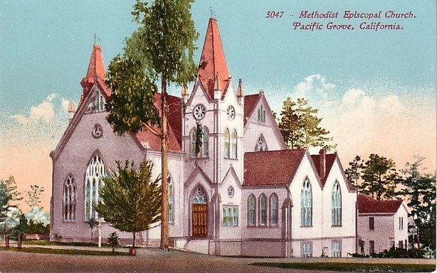Methodist Episcopal Church in Pacific Grove California CA Edward H Mitchell 1911 Postcard - M0140