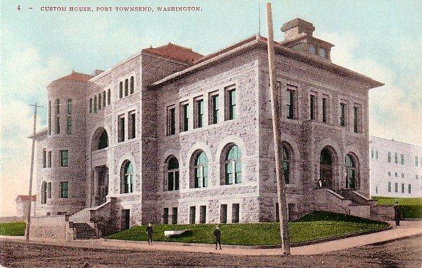 Custom House in Port Townsend Washington WA Edward H Mitchell 1908 Postcard - M0145