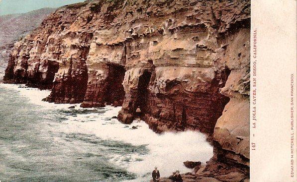 La Jolla Caves at San Diego in California CA Edward H Mitchell 1906 Postcard - M0149