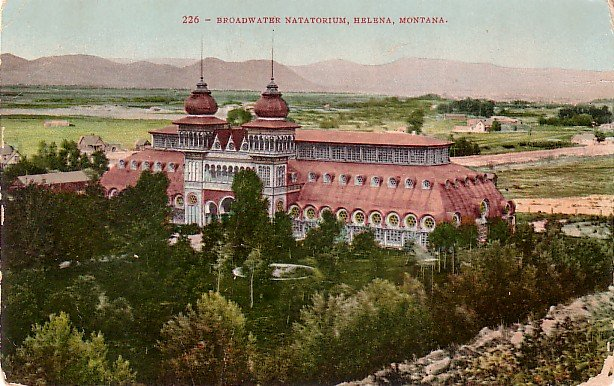 Broadwater Natatorium in Helena Montana MT Edward H Mitchell 1908 Vintage Postcard - M0151