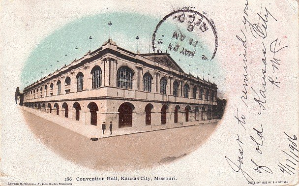 Convention Hall in Kansas City Missouri MO Edward H Mitchell 1904 Postcard - M0154
