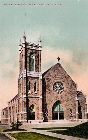 St. Patricks Church in Tacoma Washington WA Edward H Mitchell 1908 Postcard - M0164