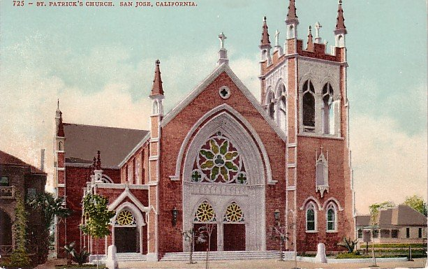 St. Patricks Church in San Jose California CA Edward H Mitchell 1907 Postcard - M0167