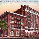 YWCA and YMCA Buildings in Portland Oregon OR Edward H Mitchell 1911 Postcard - M0177