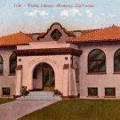 Public Library in Monterey California CA, Edward H Mitchell 1911 Vintage Postcard - M0212