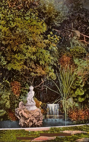 A Fountain in California CA, Edward H Mitchell 1911 Vintage Postcard - M0217