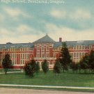 Jefferson High School in Portland Oregon OR Edward H Mitchell Vintage Postcard - M0223