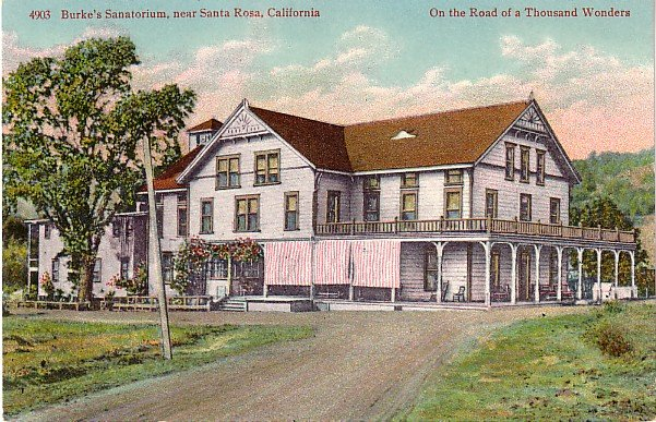 Burkes Sanatorium near Santa Rosa California CA, Edward H Mitchell Vintage Postcard - M0228