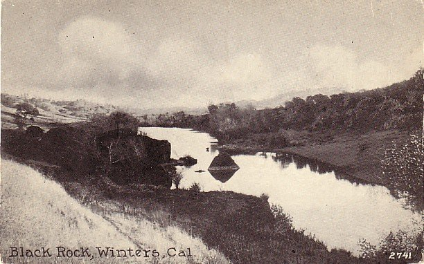 Black Rock in Winters California CA, Edward H Mitchell 1915 Vintage Postcard - M0229