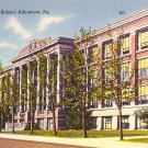 Allentown Pennsylvania PA High School, Mid Century Linen Postcard - BTS 47