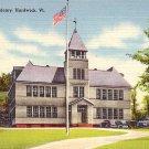 Hardwick Academy in  Vermont VT Linen Postcard - BTS 63