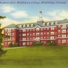 Hepburn Hall at Middlebury College in Vermont VT, Linen Postcard - BTS 65