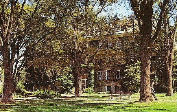 Washburn Hall at the University of Rhode Island in Kingston RI Chrome Postcard - BTS 69