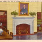 Reference Room of Rudisill Library, Lenoir Rhyne College Hickory North Carolina NC Postcard - BTS 91