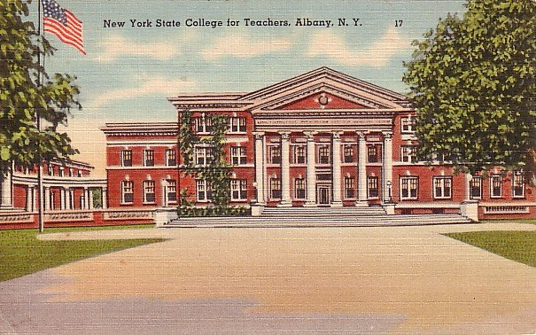 State College for Teachers in Albany New York NY, 1946 Linen Postcard - BTS 99