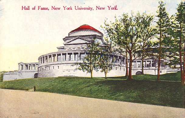 Hall of Fame Building at New York University NY, Vintage Postcard - BTS 103