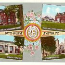 Multi Views Bates College Lewiston Maine ME Curt Teich Linen Postcard - BTS 113
