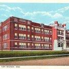 Fort Madison High School in Iowa IA, Curt Teich Vintage Postcard - BTS 117