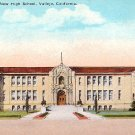 New High School  in Vallejo California CA, Vintage Postcard - BTS 129