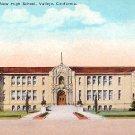 New High School  in Vallejo California CA, Vintage Postcard - BTS 129