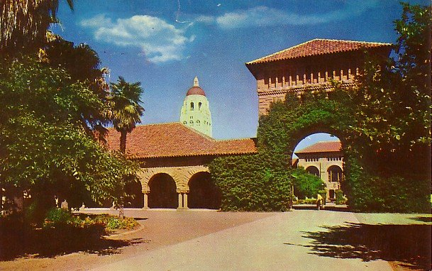 East Gate Entrance to Stanford University in California CA Chrome Postcard - BTS 134