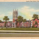 Topeka High School in Kansas KS, 1944 Curt Teich Linen Postcard - BTS 163