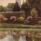 Perry Pond at Northfield Seminary in East Northfield Massachusetts MA Handcolored Postcard - BTS 172