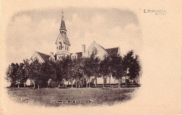 College of Emporia in Kansas KS, Vintage Postcard - BTS 179