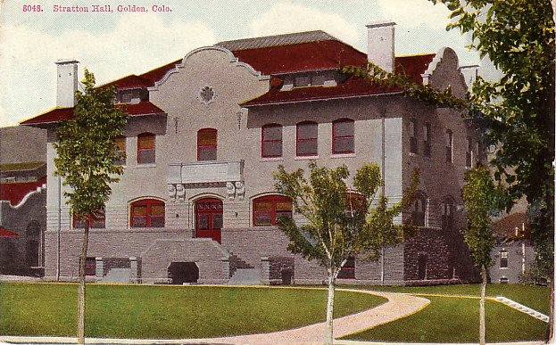 Stratton Hall at the Colorado School of Mines in Golden CO Vintage Postcard  - BTS 180