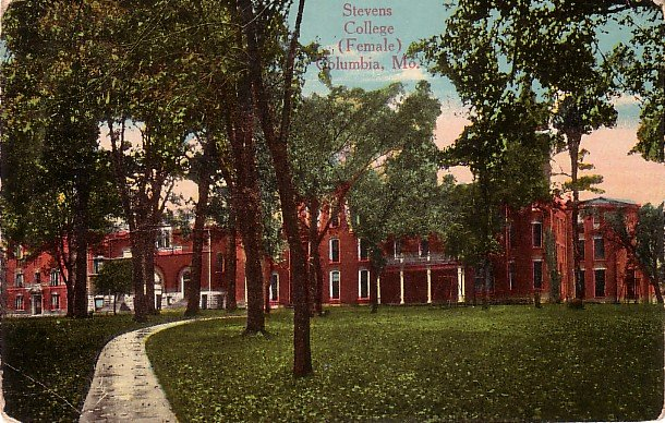 Stevens College for Females in Columbia Missouri MO, Vintage Postcard - BTS 183