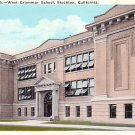 West Grammar School in Stockton California CA, Vintage Postcard - BTS 185