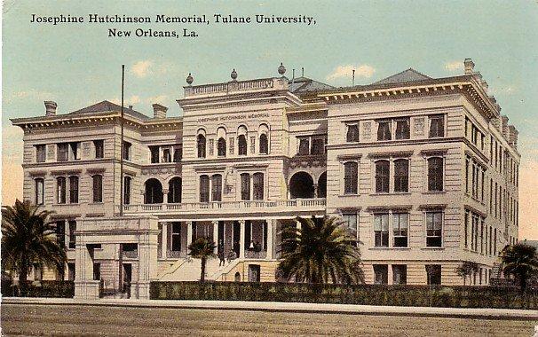 Tulane University in New Orleans Louisiana LA Vintage Postcard - BTS 186