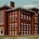 St. Mary's School in Peoria Illinois IL, 1910 Vintage Postcard - BTS 201