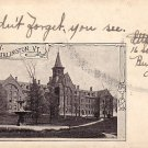 University at Burlington Vermont VT, 1905 Vintage Postcard - BTS 207