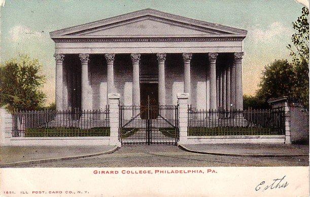 Girard College in Philadelphia Pennsylvania PA, 1905 Vintage Postcard - BTS 208
