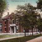 High School in Rutland Vermont VT, 1922 Vintage Postcard - BTS 210