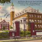 Washington and Jefferson College in Washington Pennsylvania PA, 1956 Linen Postcard - BTS 225