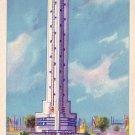 Havoline Thermometer, 1933 A Century of Progress Worlds Fair in Chicago Illinois IL, Postcard - 4057