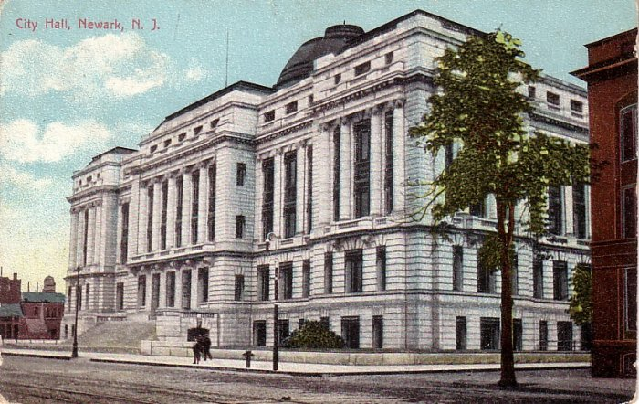 City Hall in Newark New Jersey NJ, Vintage Postcard - 4067