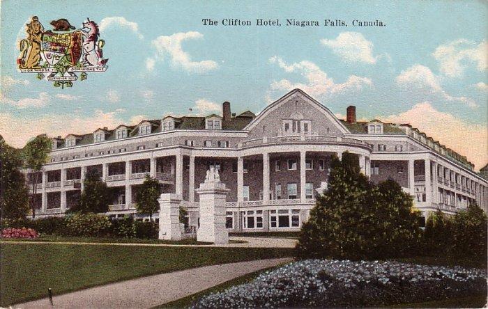 The Clifton Hotel at Niagara Falls in Canada, Vintage Postcard - 4069