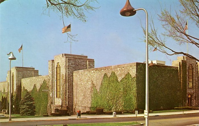 Chocolate Kiss Shaped Street Lamps at Hershey Foods Corporation in Pennsylvania PA, Postcard - 4087