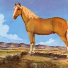 Palomino Stallion by Vern Parker, Artist Signed 1953 Chrome Postcard - 4090