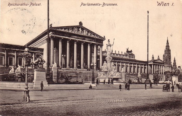 Parliaments at Wien Austria, 1907 Vintage Postcard - 4107