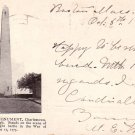Bunker Hill Monument in Charlestown Massachusetts MA, 1904 Vintage Postcard - 4115
